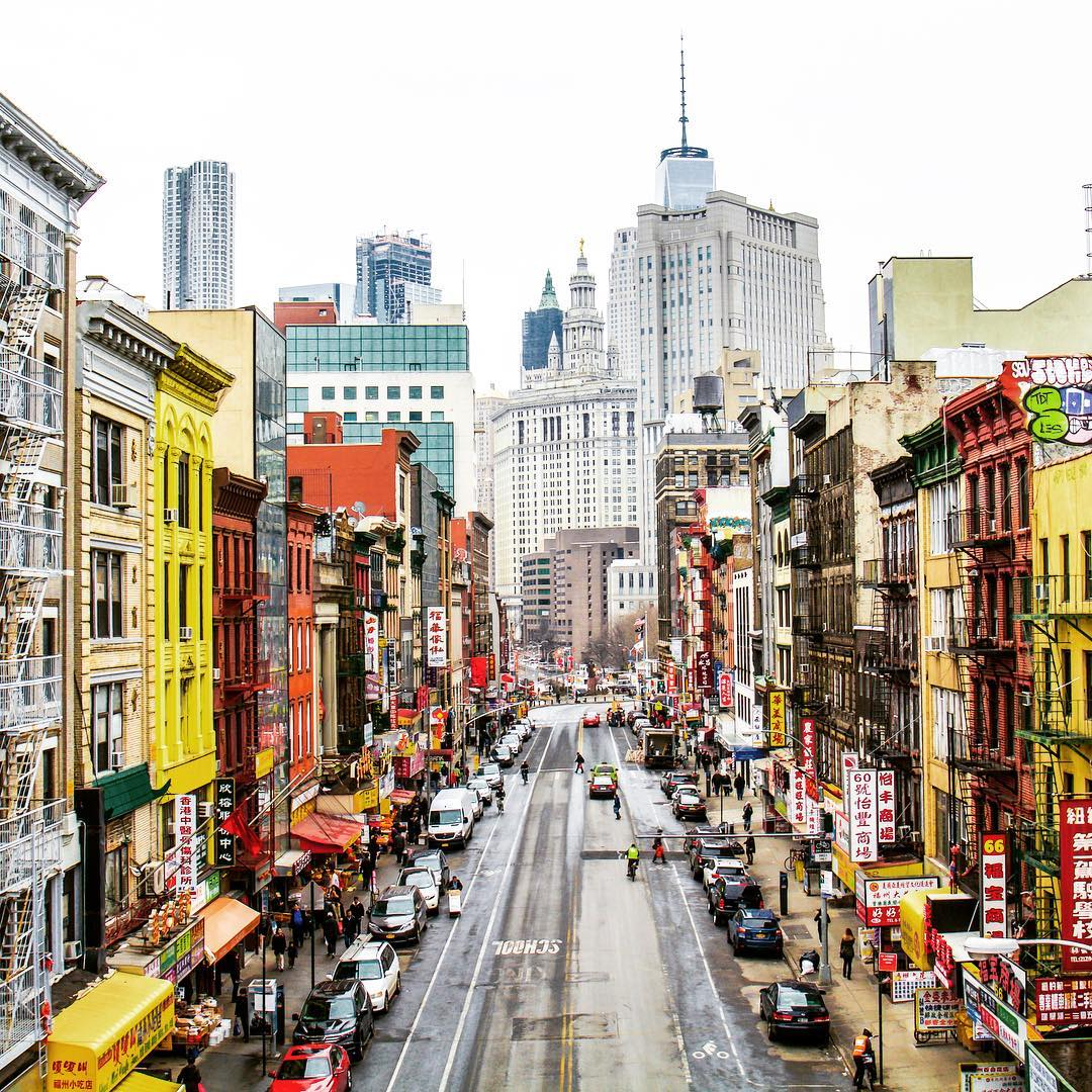 chinatown vue depuis le manhattan bridge