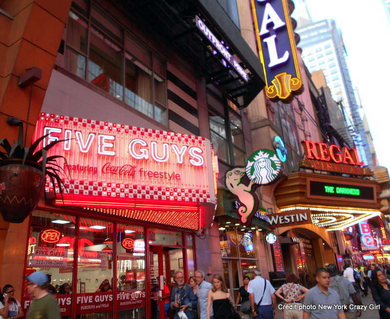 five guys times square new york.JPG
