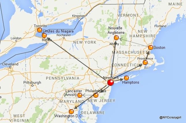 carte-villes-autour-de-new-york