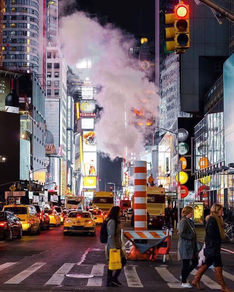 cheminée vapeur new york times square