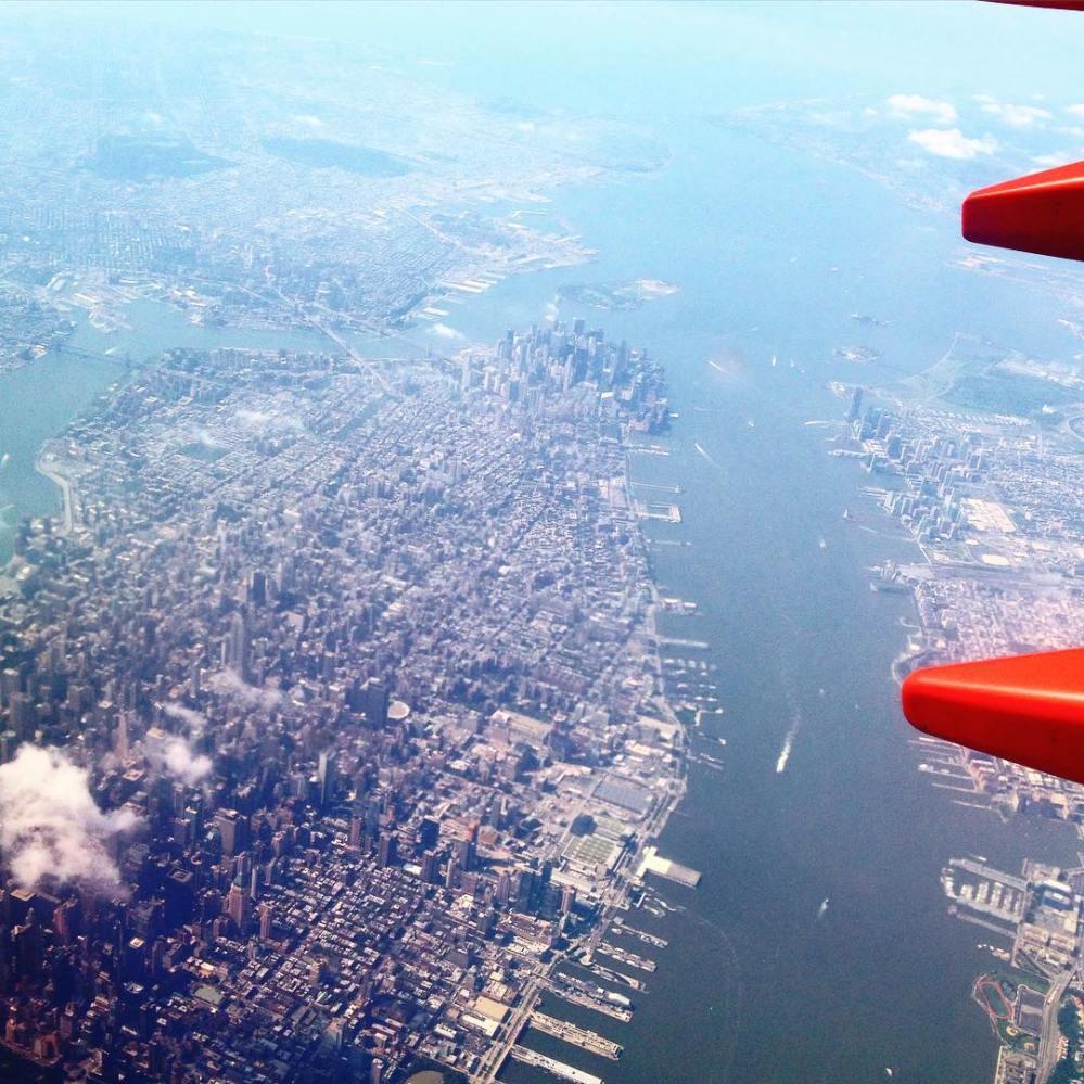 new york vu d'avion