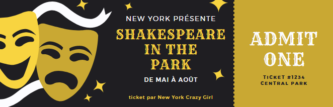 shakespeare in the park new york ticket