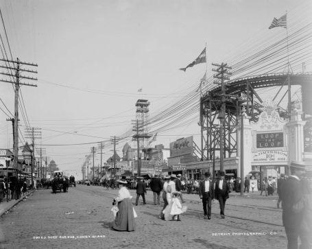 Surf Avenue luna park coney island brooklyn 1905 (1)