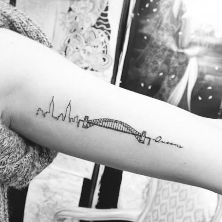 tatouage new york skyline