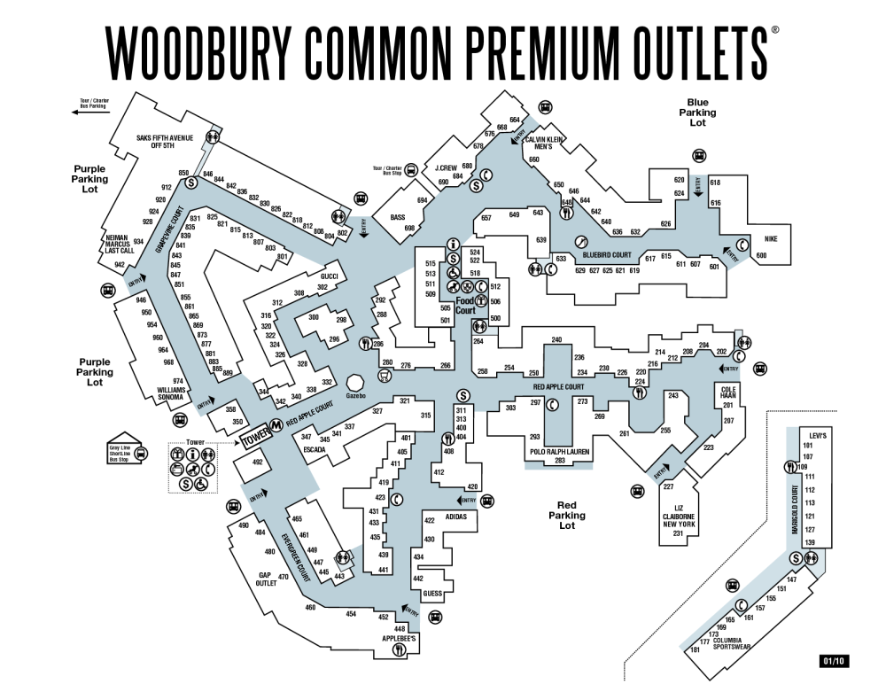 woodbury common outlet plan