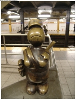 art mosaique peinture métro new york mister money bag