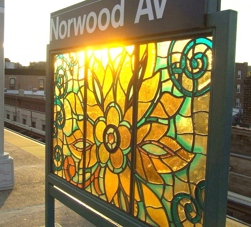 art mosaique peinture métro new york norwood