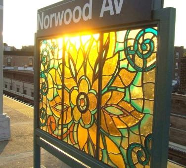art mosaique peinture métro new york norwood