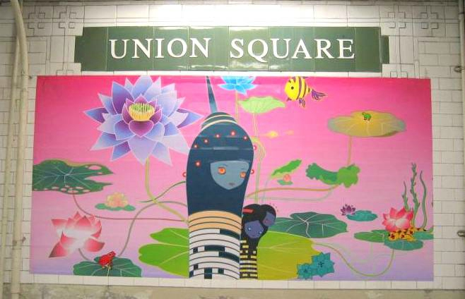 art mosaique peinture métro new york union square