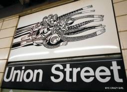 art mosaique peinture métro new york union street