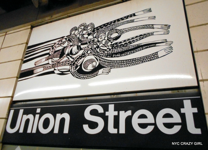 art mosaique peinture métro new york union street