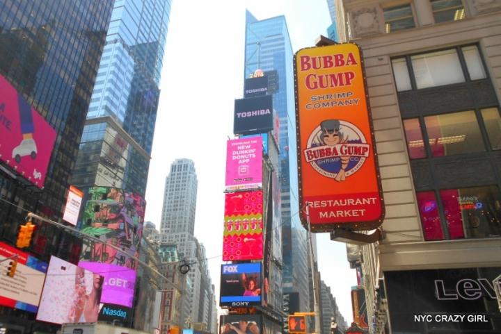 bubba gump restaurant times square new york