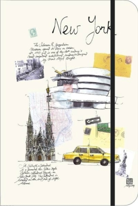 carnet de voyage peinture écriture scrapbooking moleskine new york