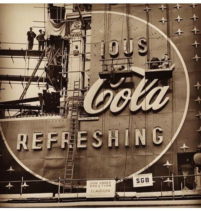 coca cola times square 1954