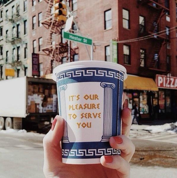 gobelet café grec happy to serve you new york cadeau