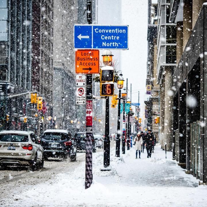 neige à new york
