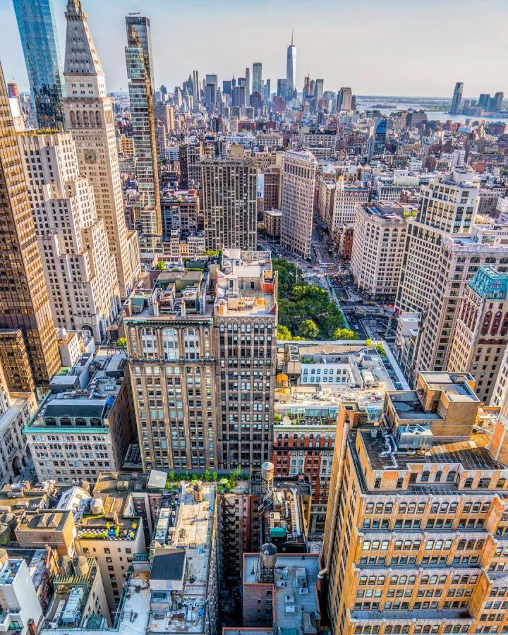 new york vu d'enhaut