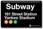 panneau subway yankee stadium