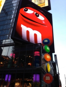 boutique m&m's store new york times square