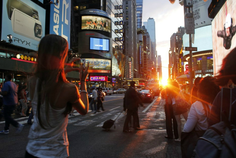 manhattanhenge coucher soleil new york (1)