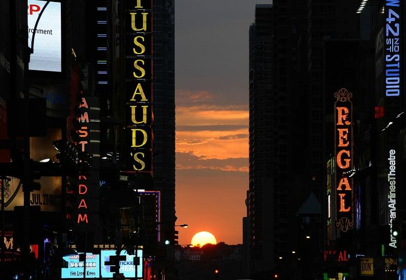 manhattanhenge coucher soleil new york (2)