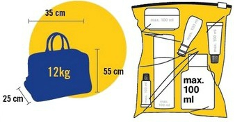 dimensions bagage à main avion vol