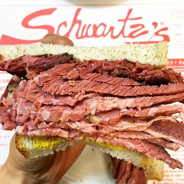 pastrami schwartz's deli casher new york