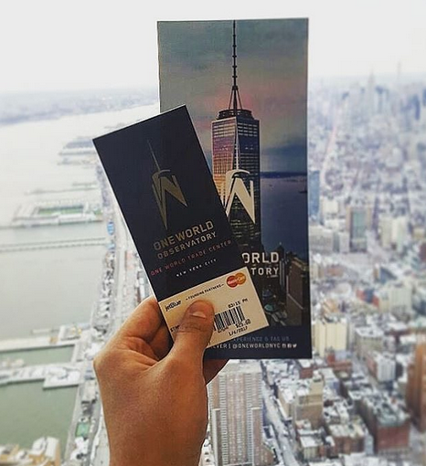 billet ticket observatoire one world trade center new york
