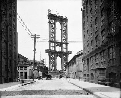 construction manhattan bridge new york 1903 (2)