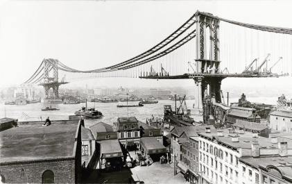 construction manhattan bridge new york 1903 (3)