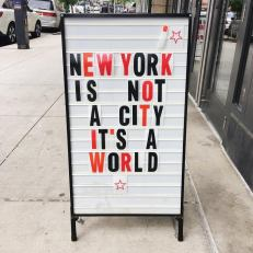 new york is a world