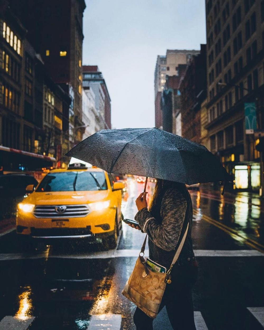 jour de pluie à new york