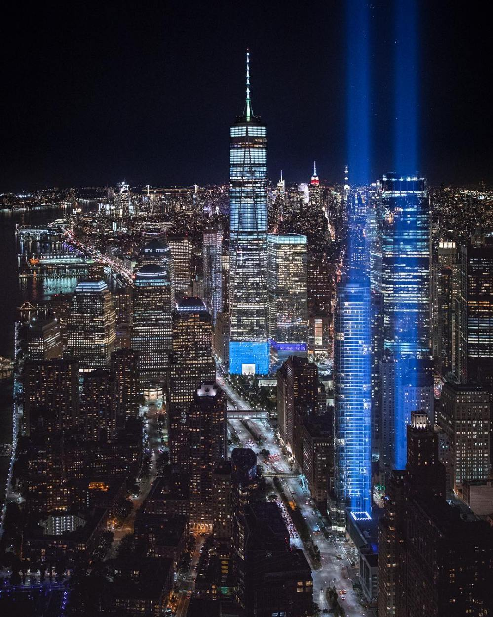tribute in light new york manhattan 11 septembre attentat twin towers (2)