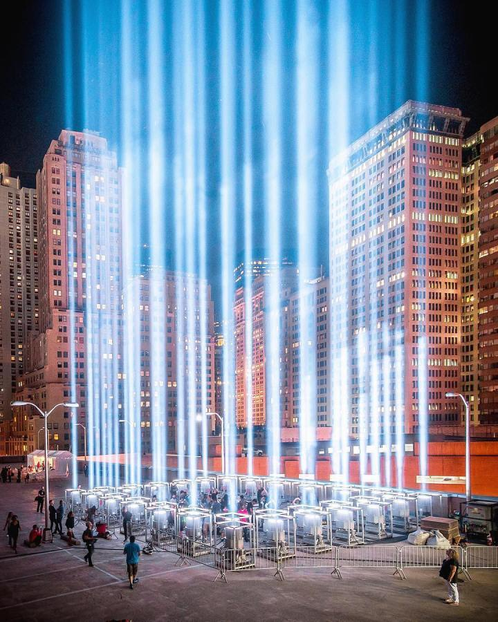 tribute in light new york manhattan 11 septembre attentat twin towers (4)