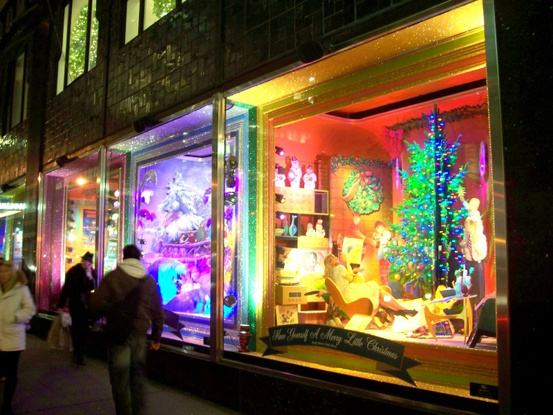 vitrine décorées new york noel