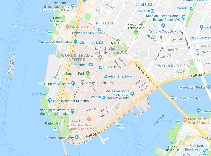 financial district plan