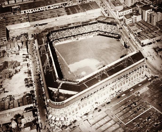 Le Ebbets Field en 1950
