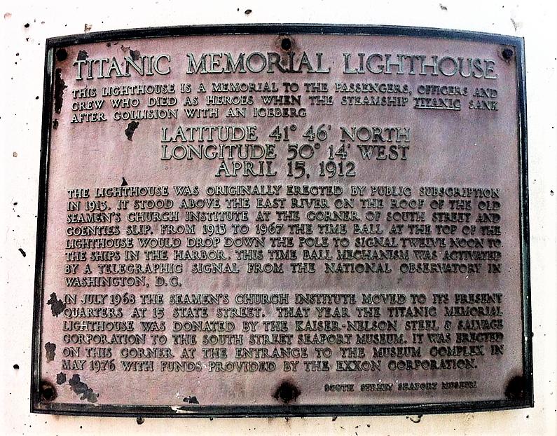 Le phare commémoratif du Titanic [New-York] Titanic-new-york-pier-54-white-star-line-1