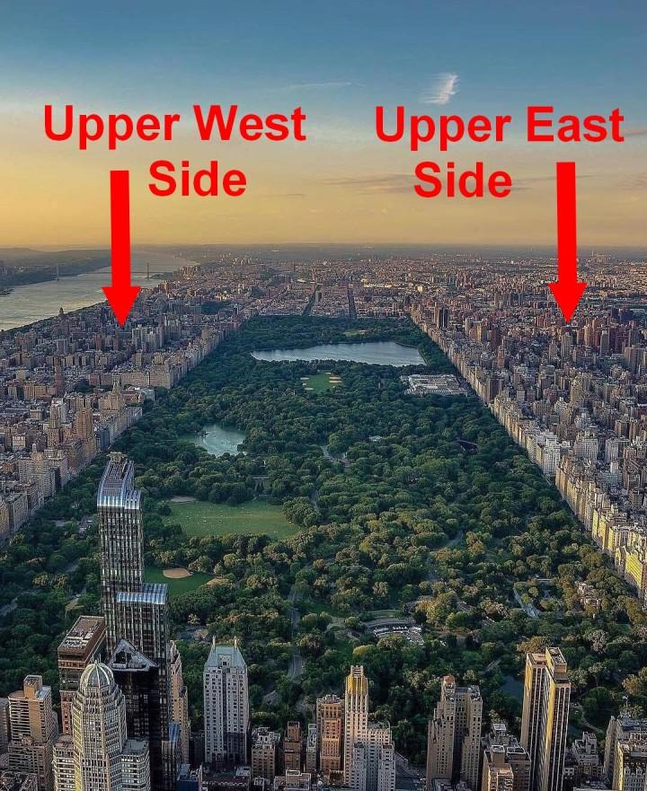 upper east side uuper west side new york manhattan